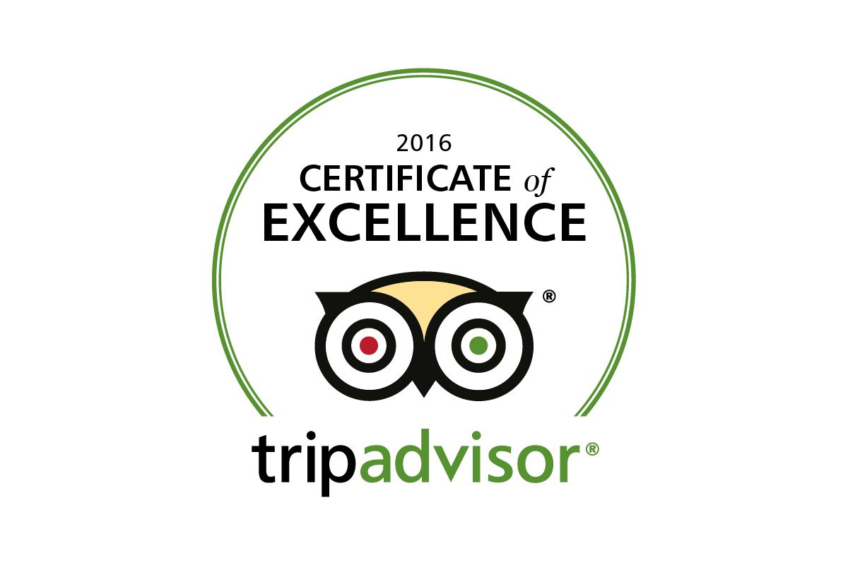 Nevis Range 2016 TripAdvisor Certificate of Excellence
