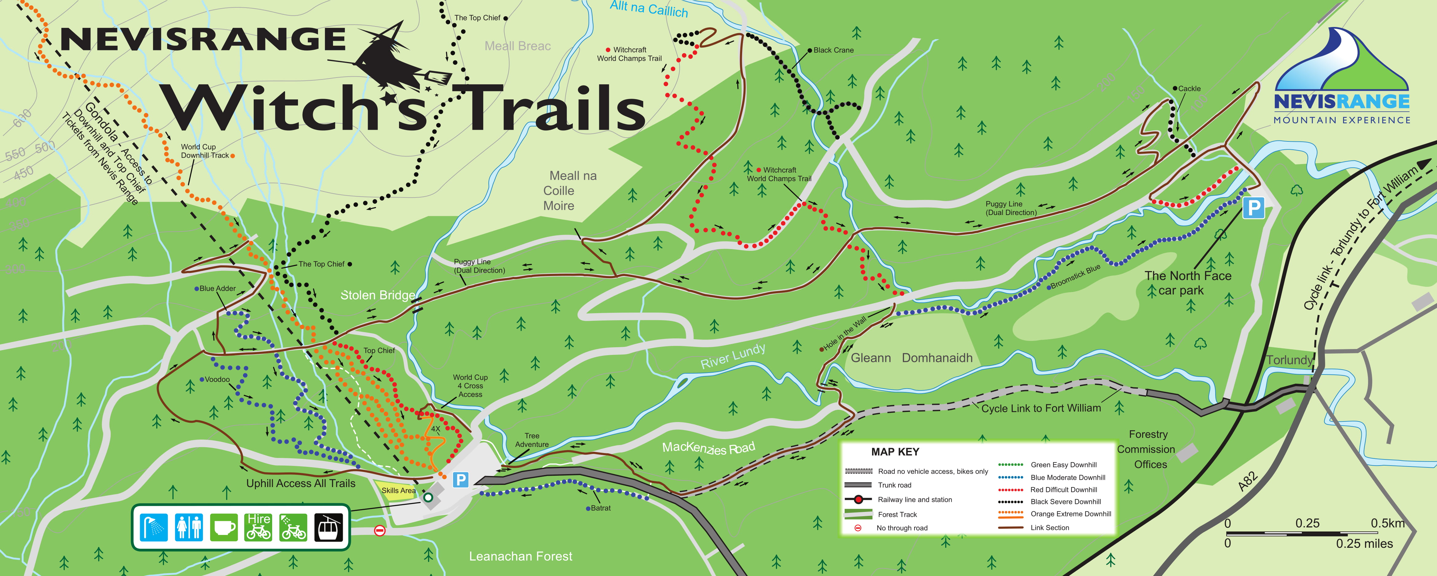 Fort Williams Scotland Map.Trails Facilities Nevis Range